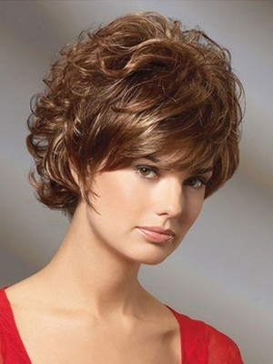 Wavy Beautiful Short Cut Remy Human Hair Wig - Image 1