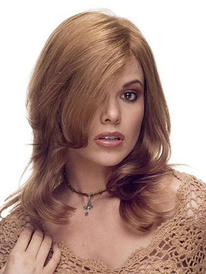 Chic Lace Front Medium Wavy Human Hair Wig - Image 1