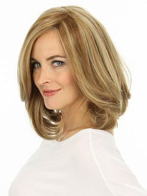 Shoulder Wavy Lace Front Nice Length Human Hair Wig - Image 1