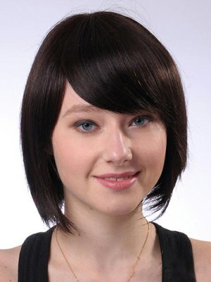 Short Polished Nice Smooth Straight Human Hair Wig - Image 1