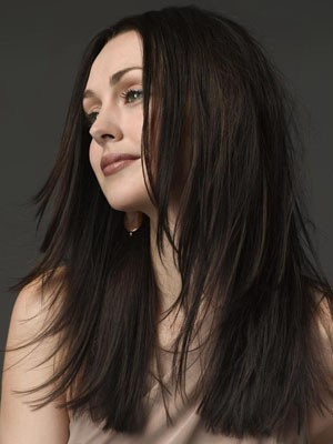 Human Hair Romantic Straight Lace Front Wig - Image 1