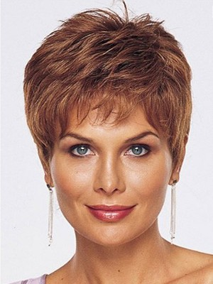 Lace Hand Tied Graceful Front With Mono Short Human Hair Wig  - Image 1