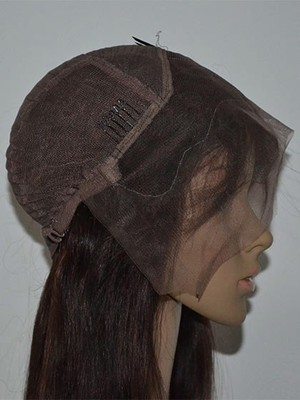 Lace Front Human Hair Stylish Straight Wig - Image 2