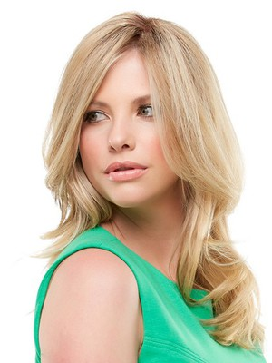 Lace Front Blonde Pretty Wavy Human Hair Wig - Image 2