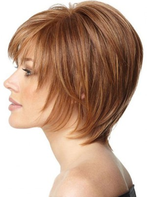 Layers Soft Human Hair Short Sweet Capless Wig - Image 3
