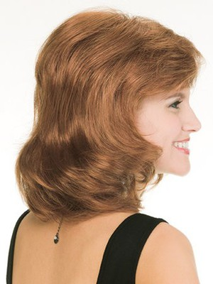 Simple Length Medium Wavy Human Hair Wig - Image 2