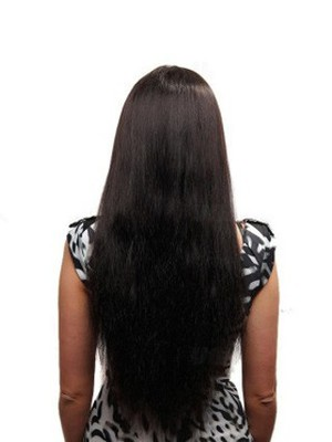 Impressive Straight Full Lace Long Human Hair Wig - Image 4