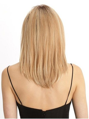 Romantic Remy Hair Straight Medium Lace Front Wig - Image 3