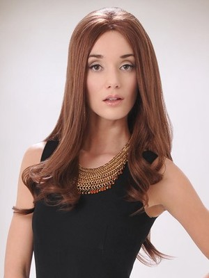 Long Human Hair Durable Lace Front Wig - Image 1