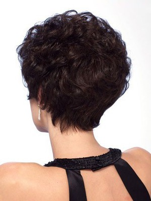Short Remy Human Hair Wavy Stylish Lace Front Wig - Image 2