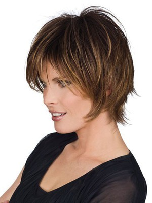 Fine Medium Length Straight Human Hair Wig - Image 2