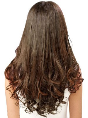 Human Hair Long Wavy Stylish Lace Front Wig - Image 3