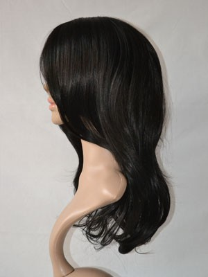 Chic Straight Human Hair Lace Front Wig - Image 2