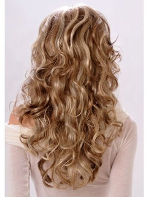 Classic Long Wavy Blonde Monofilament Wig - Image 3
