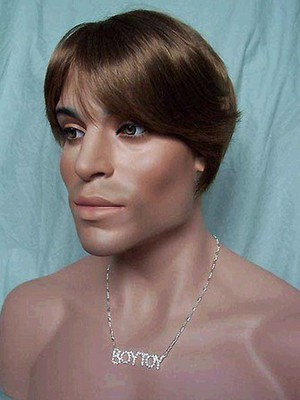 Impressive Straight Short Synthetic Mens Wig - Image 2