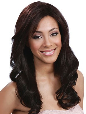 Wavy Shimmering Synthetic Lace Front Wig - Image 1