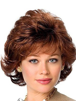 Capless Human Hair Wonderful Wavy Wig - Image 2