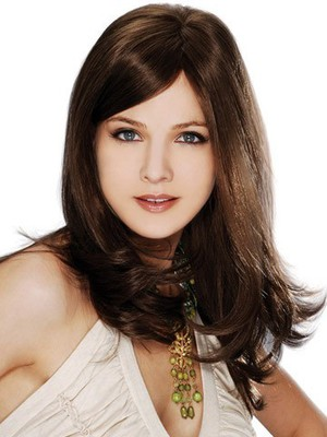 Full Lace Remy Hair Attractive Straight Wig - Image 1