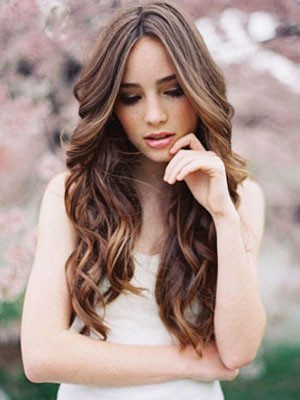 Chic Human Hair Wavy Lace Front Wig - Image 1