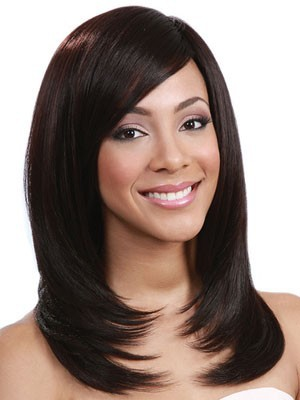 Synthetic Straight Length Medium Lace Front Wig - Image 1