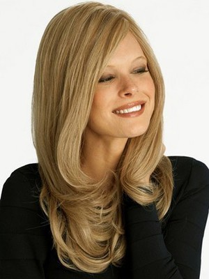 Cute Long Lace Wavy Remy Human Hair Wig - Image 2