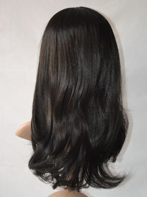 Chic Straight Human Hair Lace Front Wig - Image 4