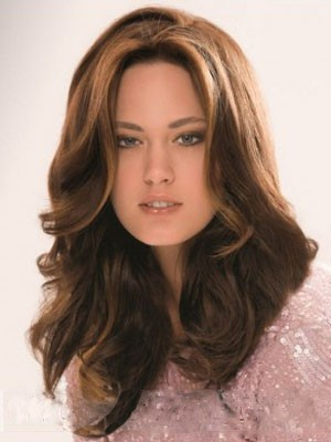 Lace Front Long New Style Synthetic Wavy Wig - Image 1